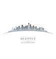 Seattle Washington city skyline silhouette vector image vector image