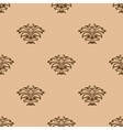 Beige floral seamless pattern background vector image vector image
