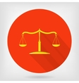 Scales of justice flat icon vector image