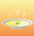 Soup plate vector image vector image
