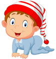 baby boy cartoon vector image