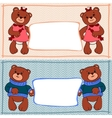 banner bear boys and girls vector image