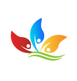 Healthy and happy people logo vector image