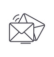 mailemailenvelope line icon sign vector image