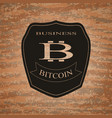shield bitcoin emblem vector image