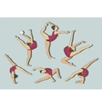 Woman stretching gymnastic exercises sport vector image