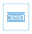 Video cassette with adult content icon vector image