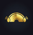sound ear plug gold logo vector image