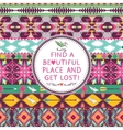 Hipster seamless colorful tribal pattern with vector image vector image