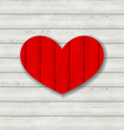 Red heart on wooden background for Valentine Day vector image vector image
