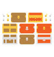Treasure Chests vector image vector image