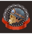 skull motorcyclists with helmet vector image