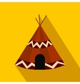Indian tent flat icon vector image vector image