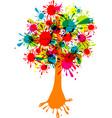 blot abstract tree vector image