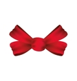 bowtie ribbon label red banner icon vector image