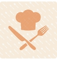 Chefs hat with knife and fork vector image