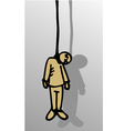 dead puppet vector image