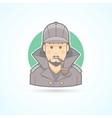 Detective Sherlock Holmes snoop icon vector image