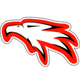 eagl head in red countur vector image