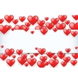 Realistic Red Romantic Hearts Background vector image