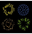 set of fireworks vector image