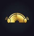 sound ear plug gold logo vector image