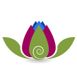 Swirly lotus flower yoga meditation vector image