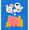 Saving money concept  Pink vector image