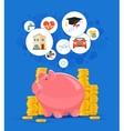 Saving money concept  Pink vector image