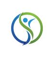 vFun people Healthy Life icon Logo template vector image