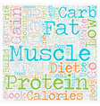 Protein is NOT the Best Food to Build Muscle text vector image