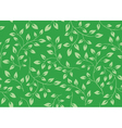 seamless green floral texture vector image vector image