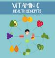 health benefits of vitamin c vector image vector image