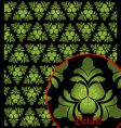 irish pattern vector image
