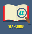 Magnifying Glass On Notebook vector image vector image