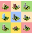 A set of isometric vector image