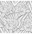 bouquets of roses on animal abstract print vector image