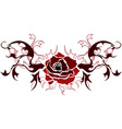red rose stencil vector image