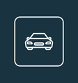 car outline symbol premium quality isolated vector image
