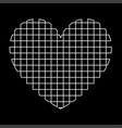 heart with square white color path icon vector image