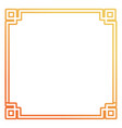 square frame decorative desig vector image