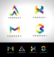 Triangle Letter Logo Design vector image
