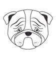 hand draw sad face dog vector image