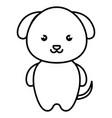 cute and tender dog kawaii style vector image