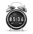 retro round alarm clock with flip numbers instead vector image vector image