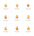 flame logo set vector image