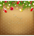 Christmas And Happy New Year Composition vector image