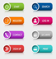 Colored set rectangular web buttons template vector image
