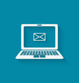 e-mail symbol on laptop vector image vector image