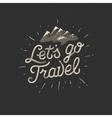 Lets go travel adventure motivation concept vector image